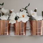 DIY Wall Decor with Copper Buckets and Paint