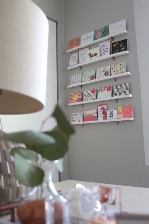 Diy greeting card display wall for your office diy greeting card display wall m4hsunfo