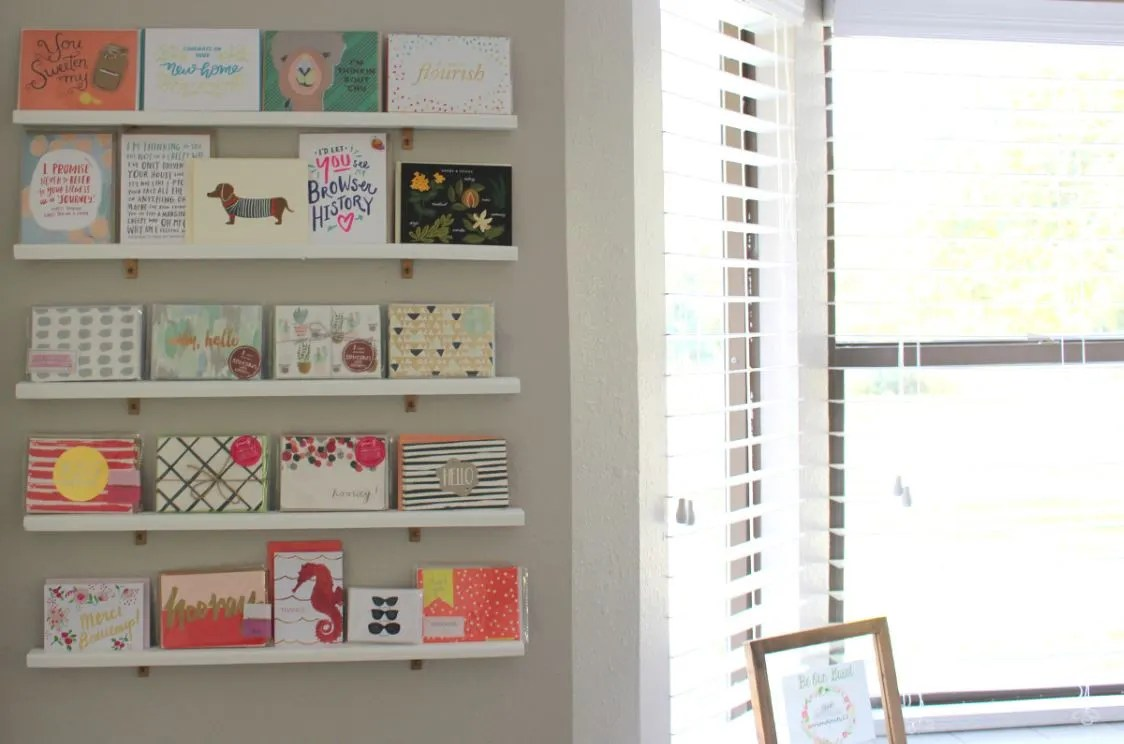 Diy greeting card display wall for your office diy greeting card display m4hsunfo