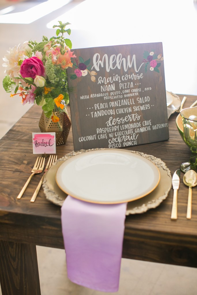 DIY Ombre napkins and place cards