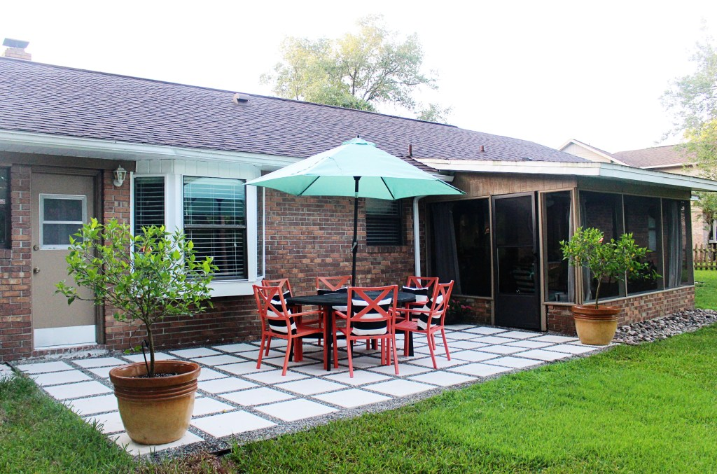 Backyard Patio Makeover Reveal