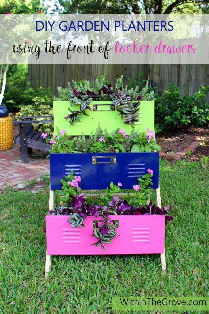 DIY Garden Planters using Lockers