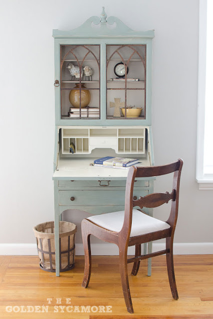 Vintage Secretary Desk Makeover Ideas Within The Grove