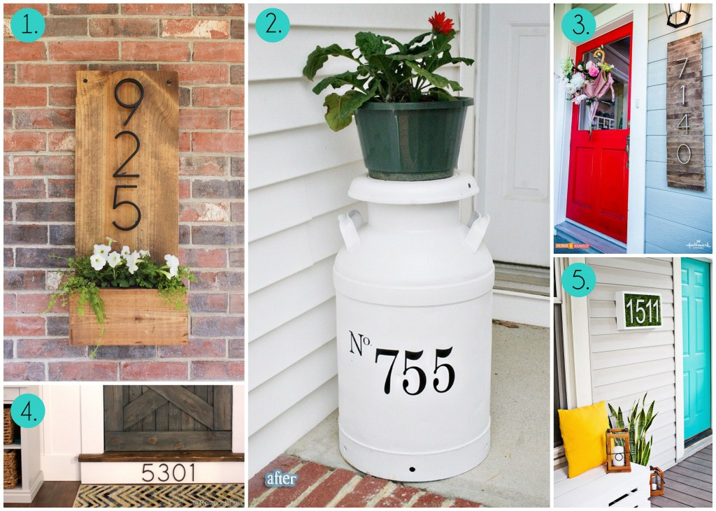 DIY House Number Signs