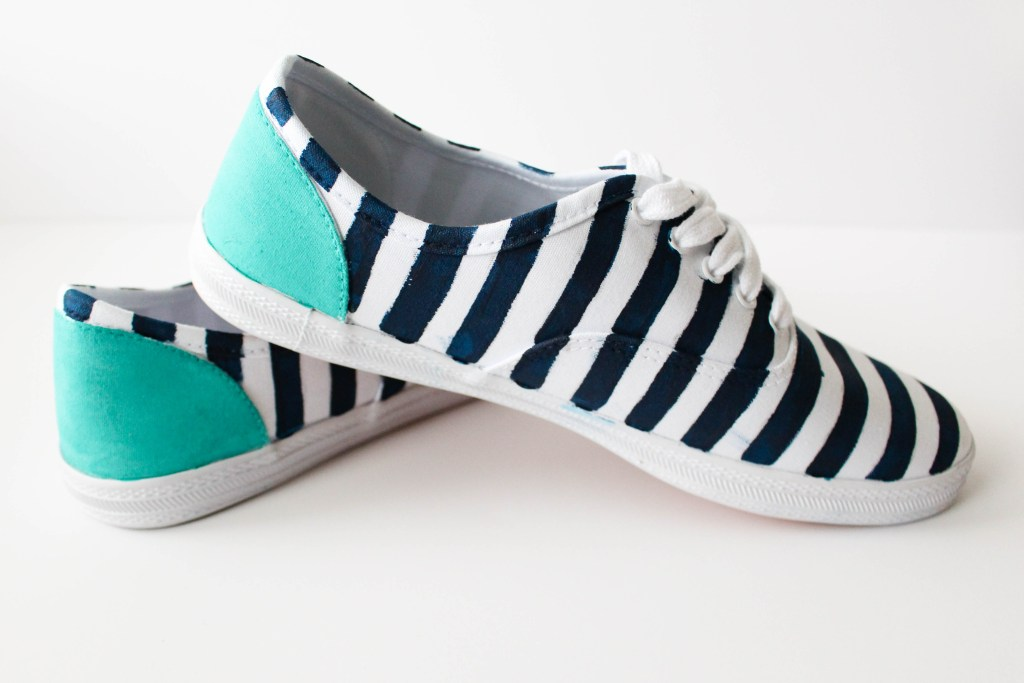 Painting your own shoes.