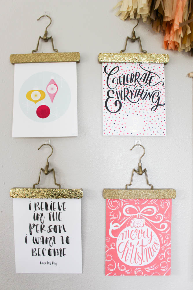 Glitter picture hangers - Within the Grove