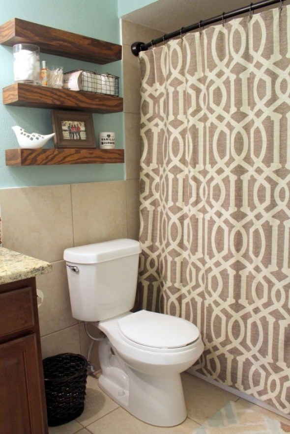 guest bathroom before the mini makeover  - Within the Grove