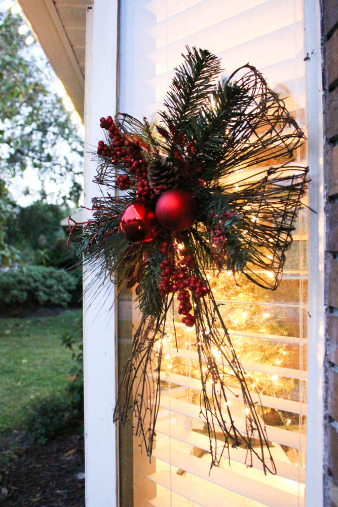 Christmas wreaths on a bay window - Within the Grove