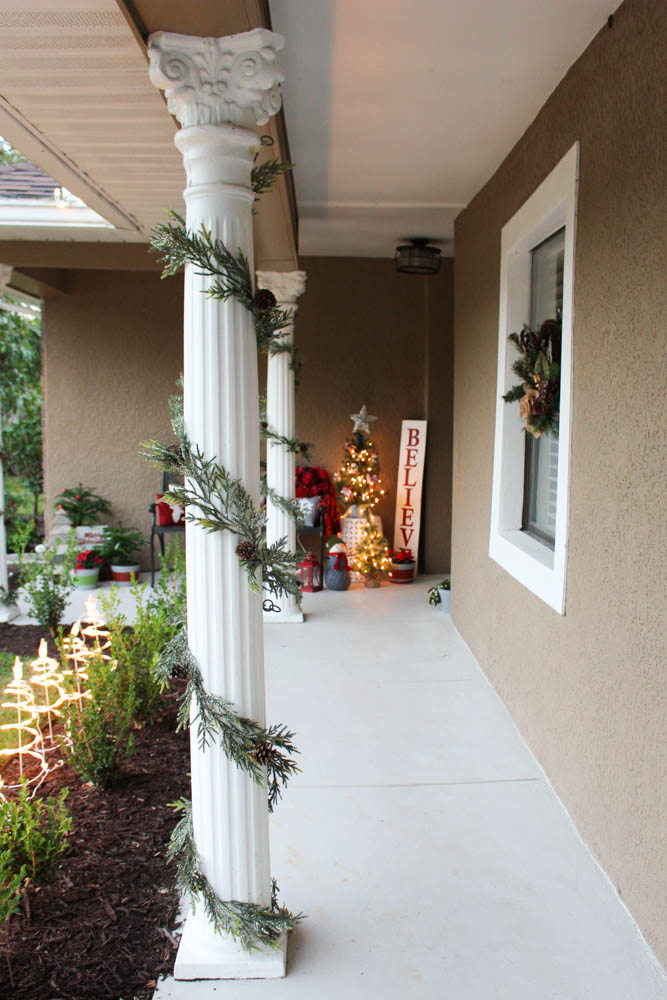 Using garland for outdoor decorations-Within the Grove