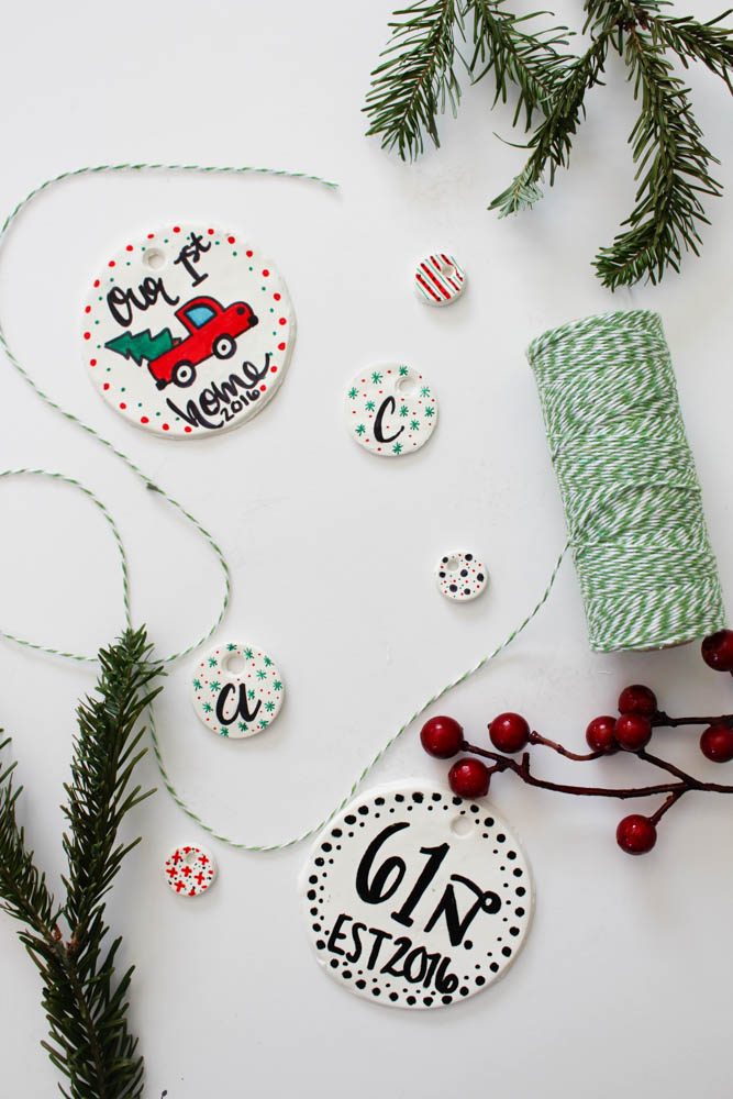 DIY Painted clay ornaments