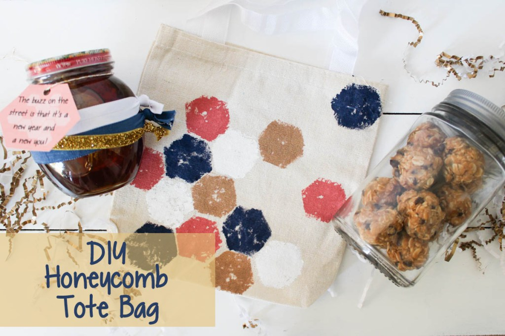 Supplies to create a honeycomb bag.