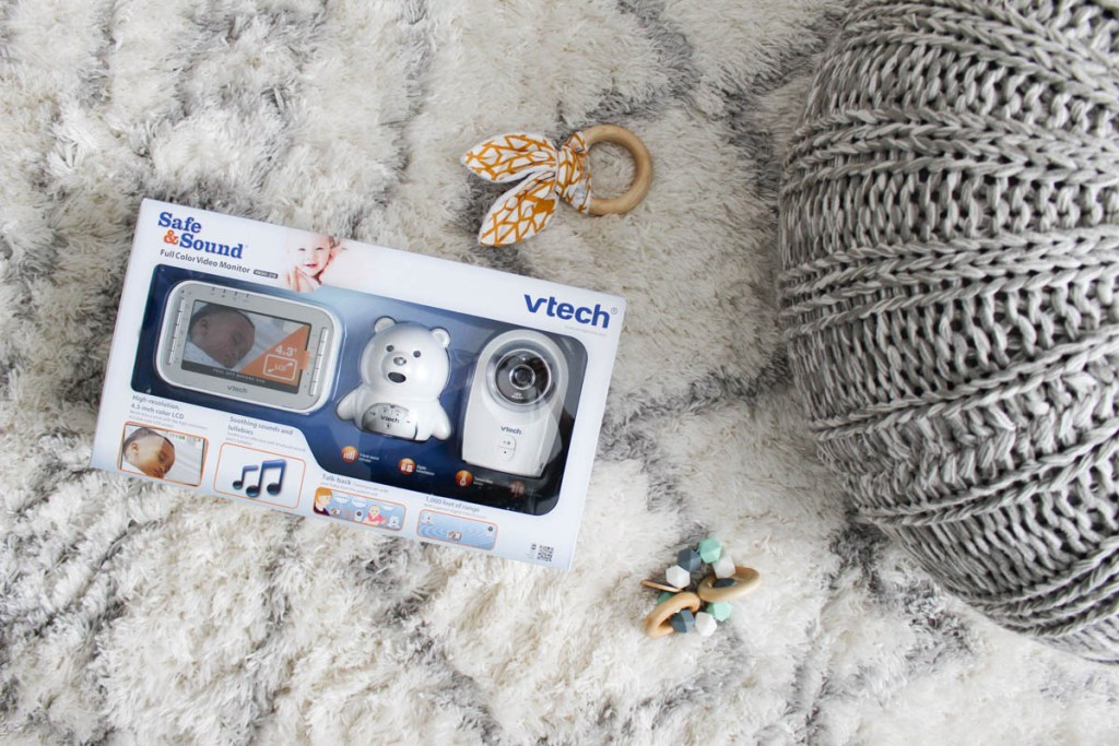 Vtech Bear Video Monitor found at Babies R Us.