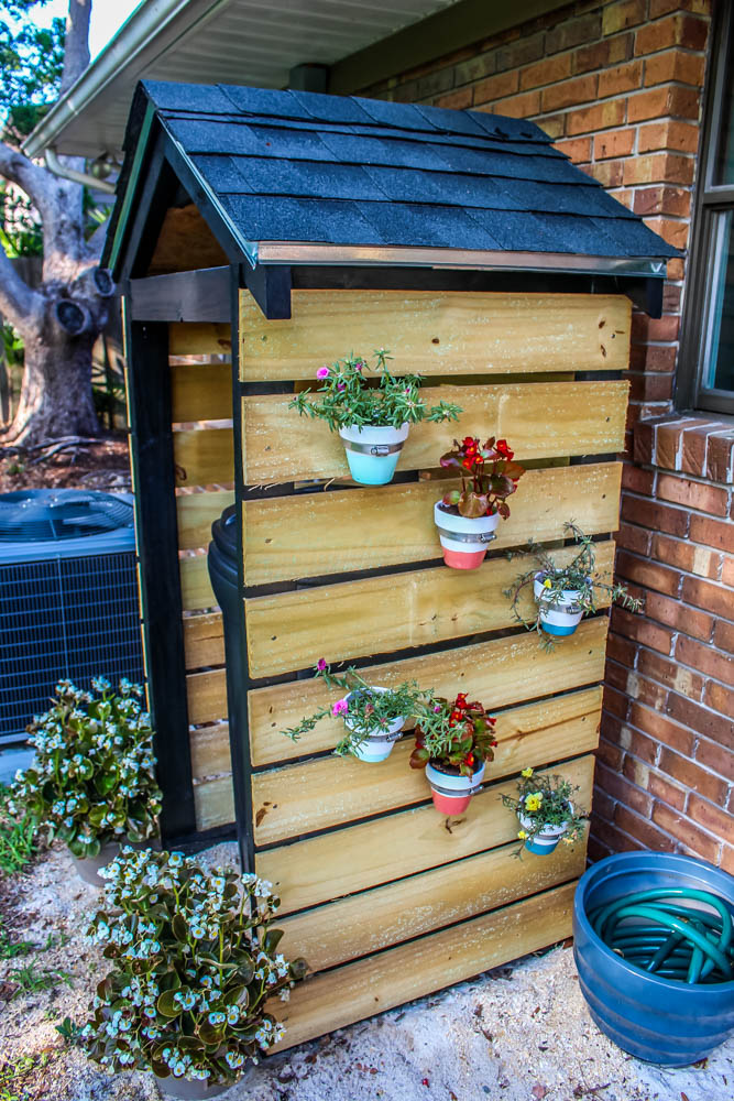 Home Project DIY Trash Can Shed For Curb Appeal