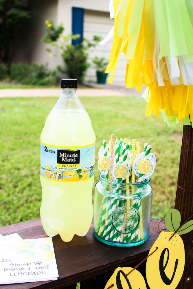 hosting a neighborhood lemonade stand