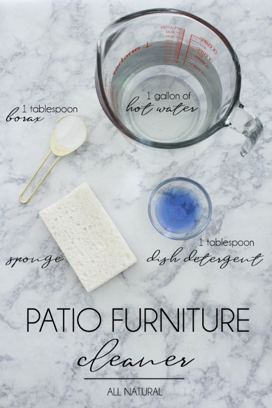 Using Borax to clean patio furniture - Within the Grove