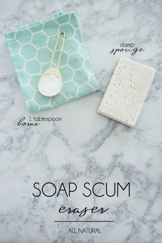 Get rid of soap scum with Borax - Within the Grove