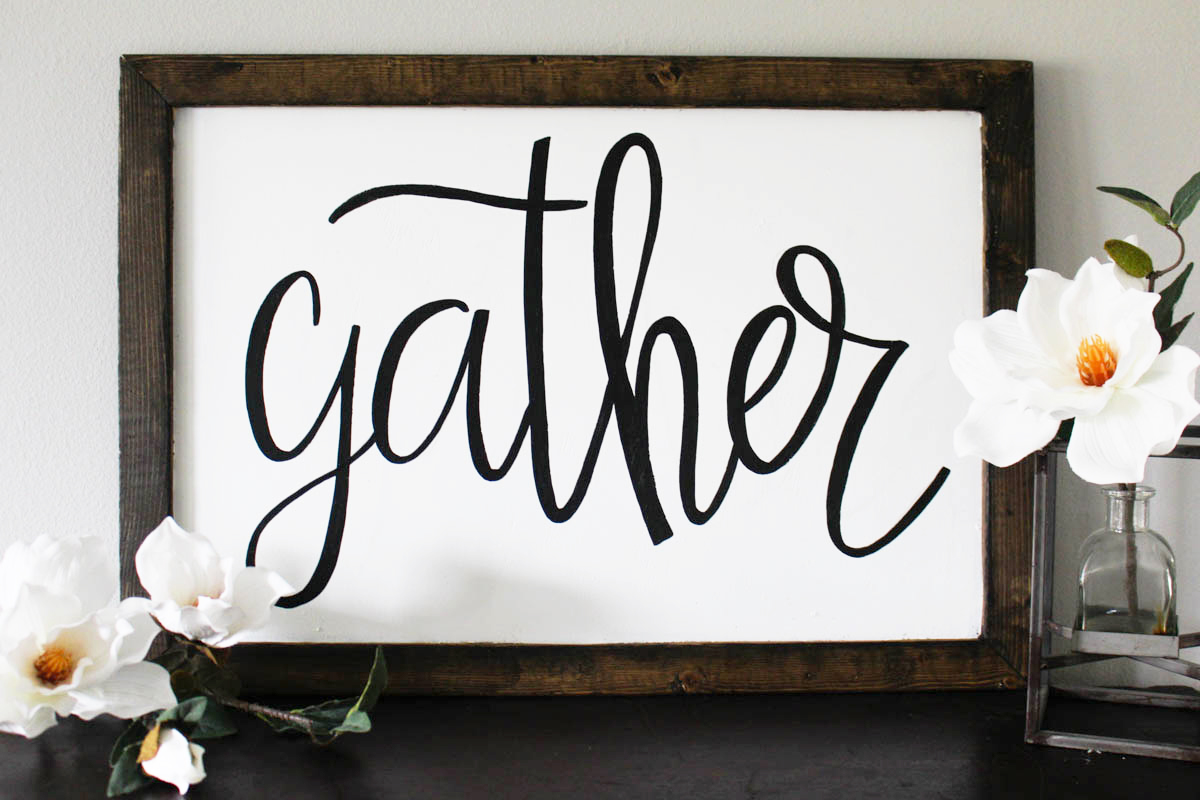 Gather Wooden Sign - Fall Giveaway by Within the Grove