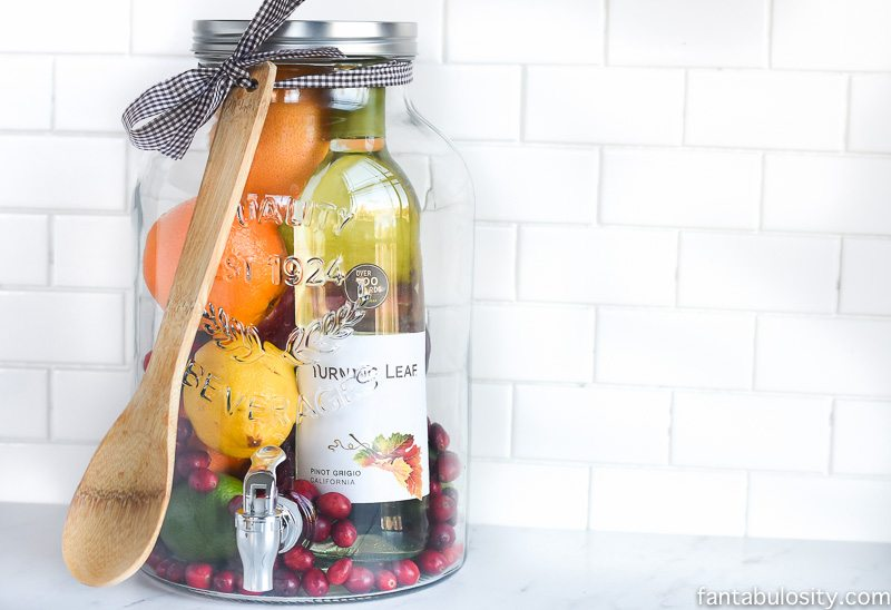 Sangria in a bottle for the hostess