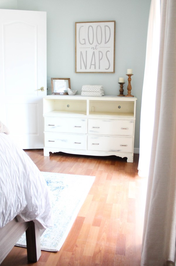 Creating an Organized guest bedroom with items from World Market