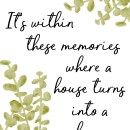 Turning a house into a home free printable