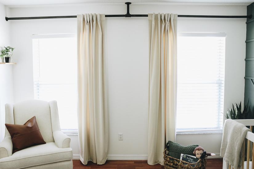 Diy Curtain Rod Within The Grove, Closet Curtain Rod
