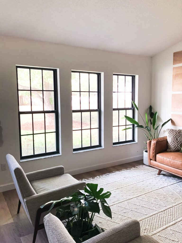 How To Paint Black Window Frames And Panes Within The Grove
