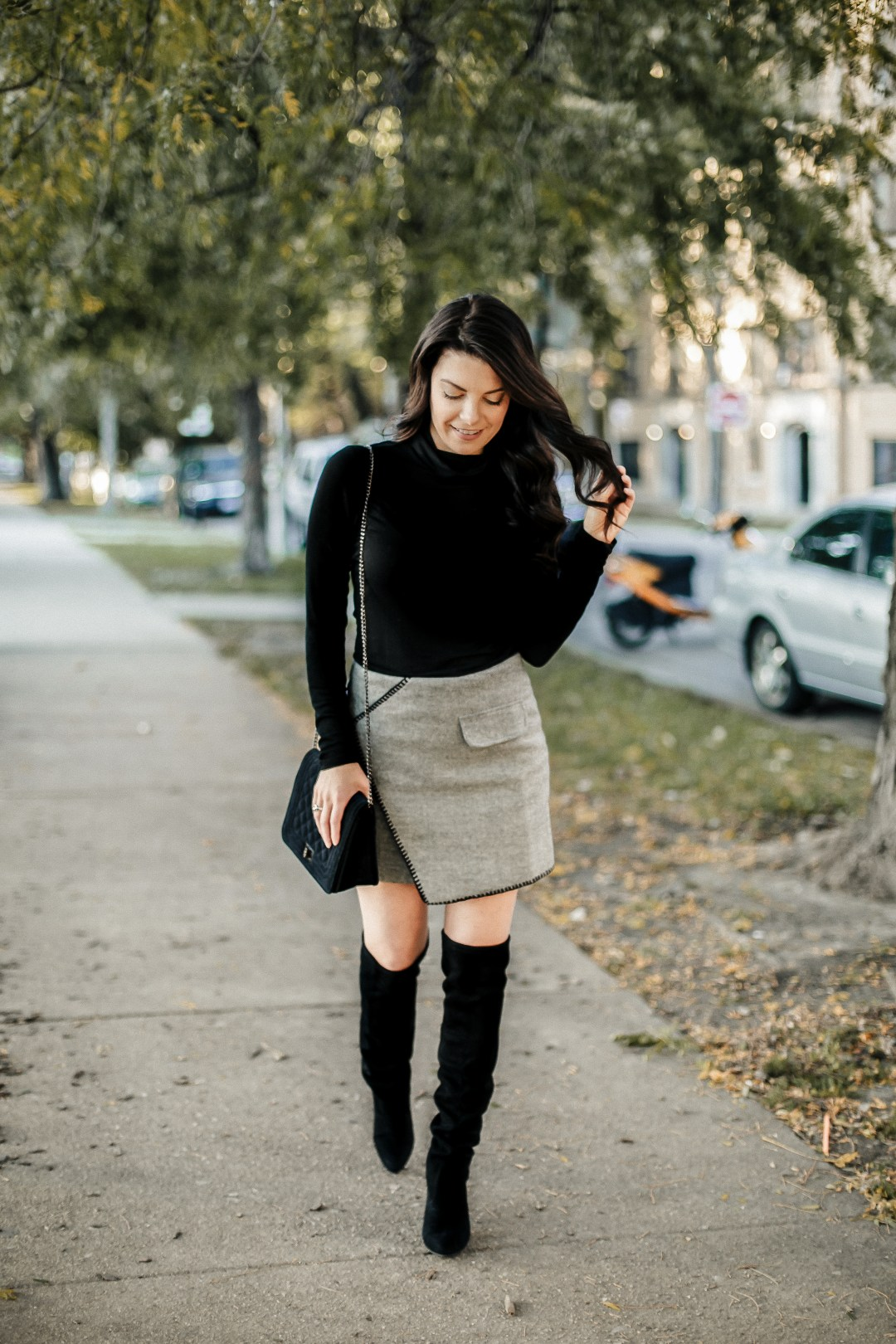 cold weather date night outfit