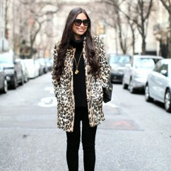 Leopard Print Living Room Brown And Blue Curtains For How To Style A Statement Coat Feat. Topshop