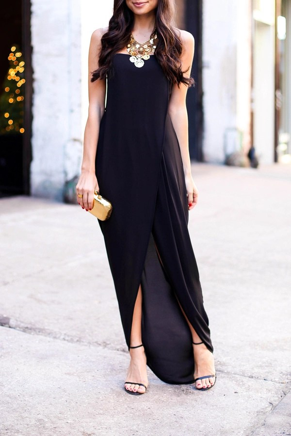 Grecian Gown for a Black Tie Wedding