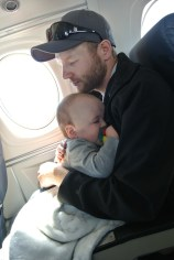 Nap time on the plane