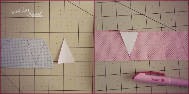 doll sized bunting cut fabric
