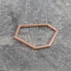 18ct Rose Gold Geometric Stacking Ring £24.75
