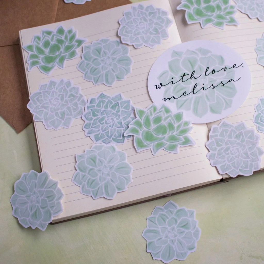 Succulent Collection Die Cut Stickers