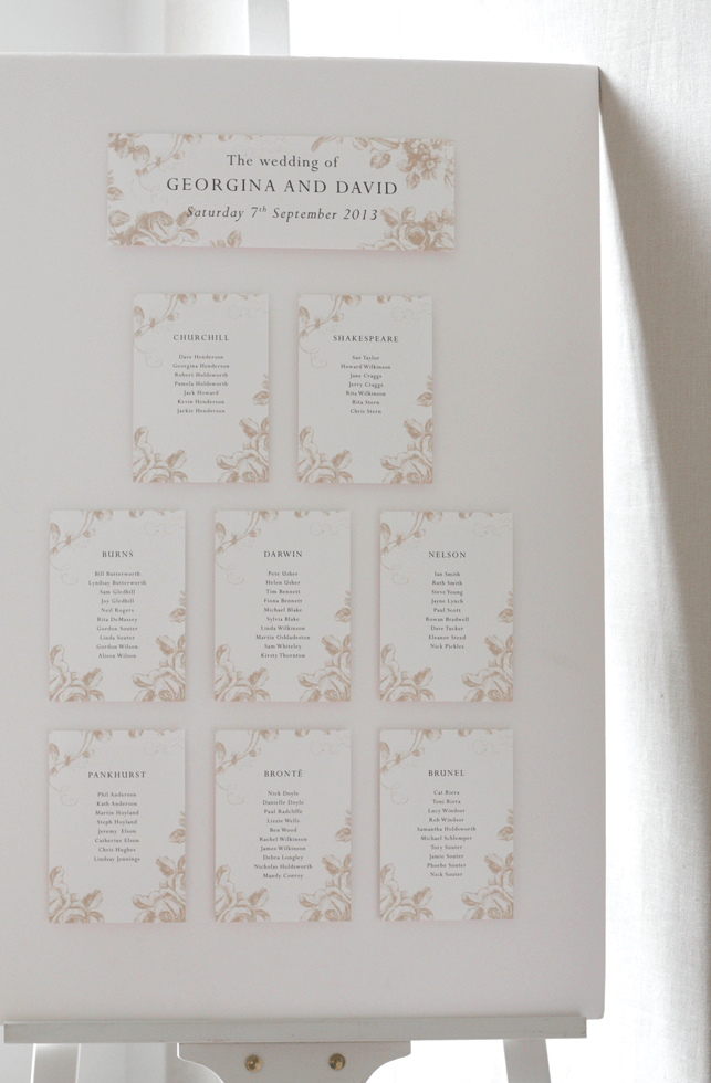 Romantic table plans