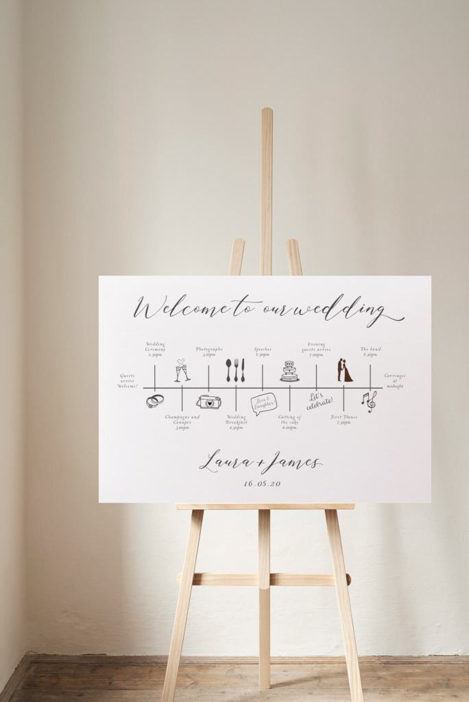 Calligraphy Order of the day time line sign