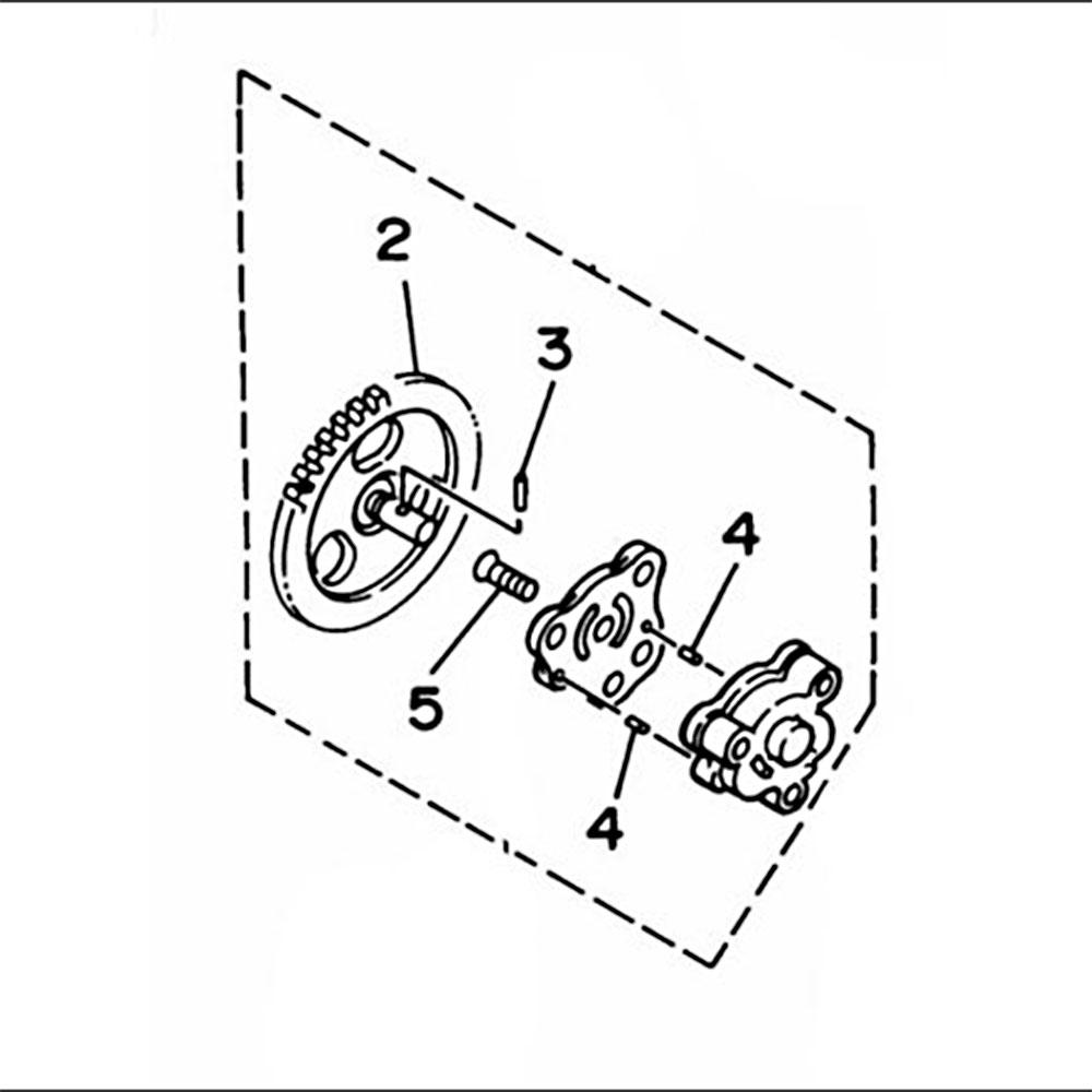 Oil Pump Plastic+ Aluminum Replaces 2HT-13300-00-00 For