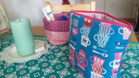 My vanity bag and utensils basket
