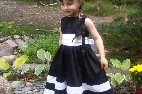 S's funeral dress