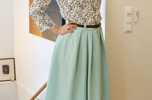 Colette Zinnia skirt with Okistyle Tiim blouse.