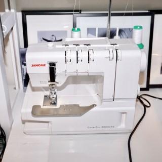 My Cover stich machine Janome CoverPro 2000CPX.