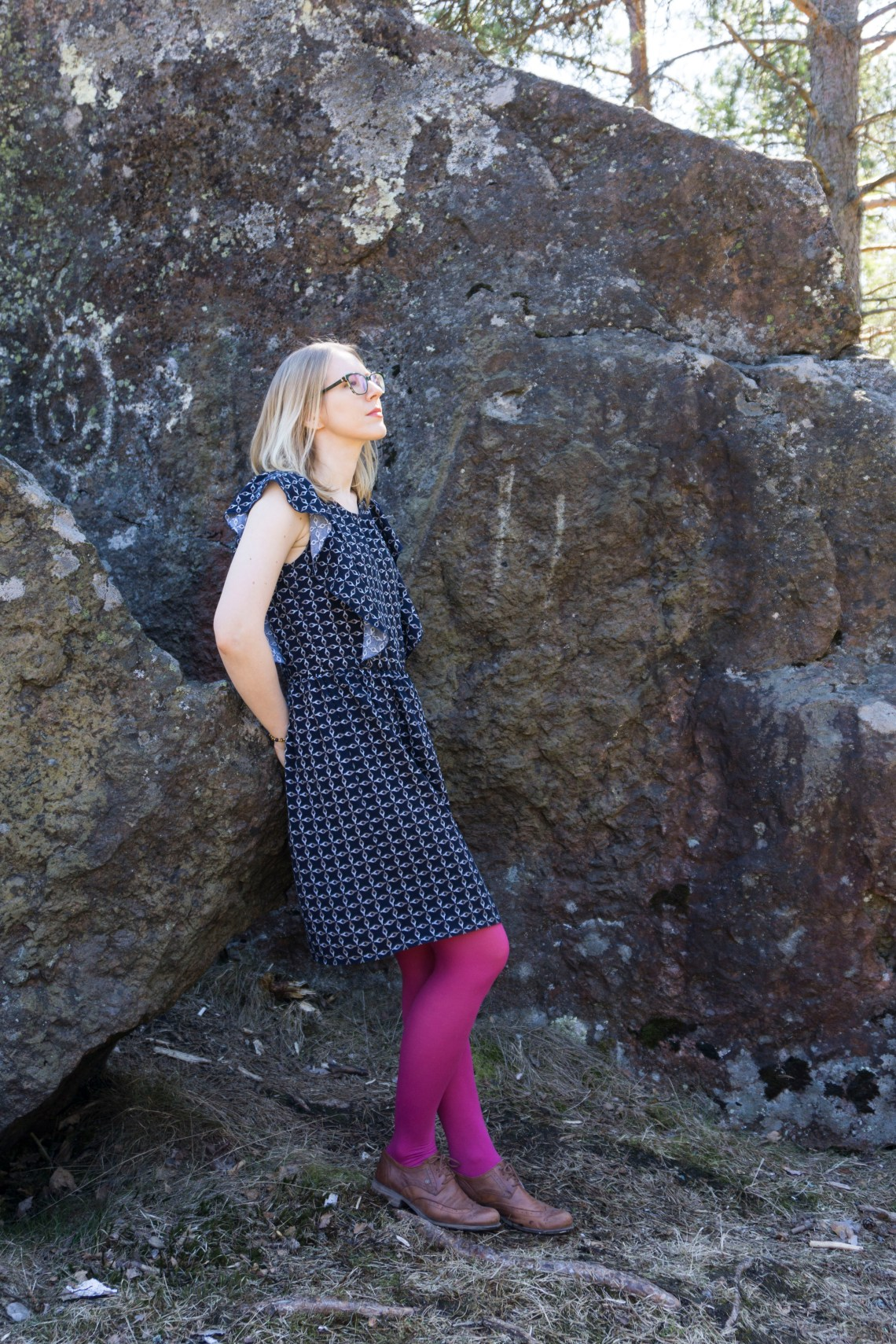 Lekala pattern #4279 viscose dress.