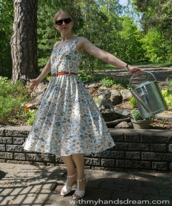 Bette dress, front view.
