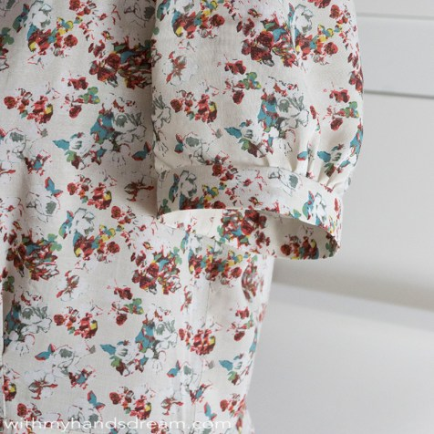 Sew Over It vintage shirtdress sleeve hack.