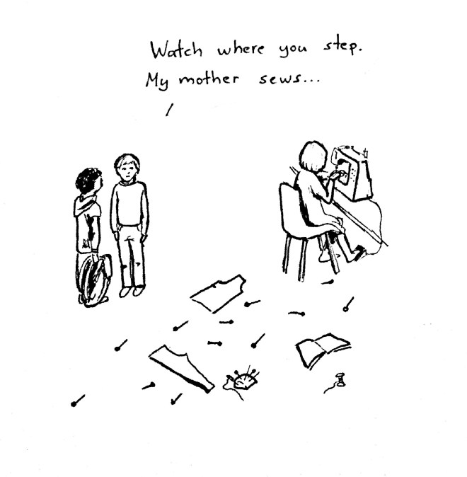 Sewing and doodles #2: Watch where you step...
