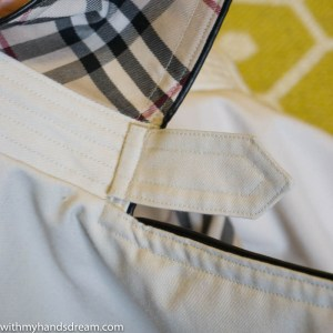 Image: Trench coat collar tab