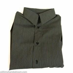 The finished shirt: Bootstrapfashion.com Vado Designs Men's Classic Fit Shirt.