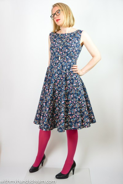 Sew Over It Betty dress, front view.