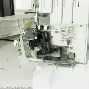 Serger maintenance: after cleaning.