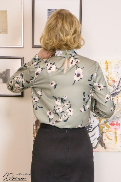 The Orageuse Prague blouse from the back.