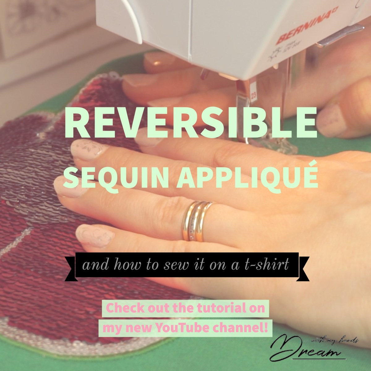 How to sew on a reversible sequin appliqué patch
